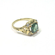 SALE Arts & Crafts Tourmaline Ring
