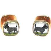 REDUCED Signed Sulka Scottie Dog Cufflinks