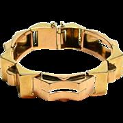 18kt Architectural Link Bracelet
