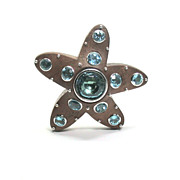Seaman Schepps Wood and Aquamarine Starfish Pin