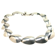 Scandinavian Modernist Sterling Necklace