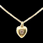 Her Heart's Desire in a Victorian Heart Pendant
