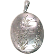 Aesthetic Sterling Silver Locket Pendant