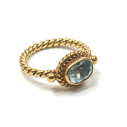 SALE Luna Felix 18kt & Aquamarine Ring