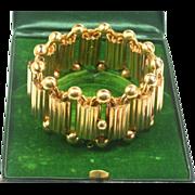 Exquisite Circa 1867  Gold Link Bracelet