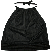 SALE Antique Silk Mourning Apron w/ Velvet Bands c1865