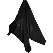 REDUCED Mourning Bonnet Veil in Silk, Late Victorian Era