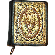 Tape Measure in Book Form, Gilt Leather Early 1900s