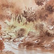 Jim Powell Texas Artist Original Landscape Watercolor Painting