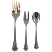 3 pc Reed & Barton L'Amour Japan Flatware Stainless Steel Set