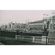 Antique 1893 Chicago World's Fair Photogravure Print View From Court of Honor