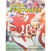 1978 Fall Edition Dave Campbell's Texas Football Special Basketball Section