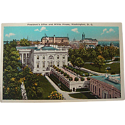 SALE 1915-1930's President's Office White House, Washington, D.C. NOS Postcard