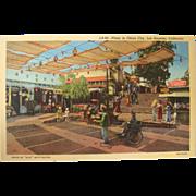 Vintage Postcard 1940/50's Plaza China City Los Angeles California NOS