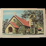 1940's St. Ann's Episcopal Church, Sayville, Long Island, New York NOS Postcard