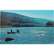 Delaware River Canoe Club Trip Vintage NOS New Old Stock Postcard