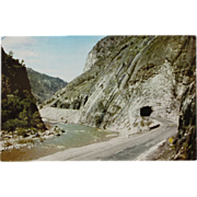 Feather River Canyon California Roadside Tunnel Vintage NOS New Old Stock Postcard