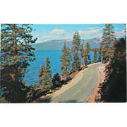 SALE Roadside Scene Lake Tahoe Vintage NOS New Old Stock Postcard 1950s
