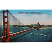 SALE Golden Gate Bridge Across From Golden Cafe San Francisco NOS New Old Stock Postcard