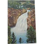 SALE Upper Falls Yellowstone National Park NOS New Old Stock Vintage Postcard