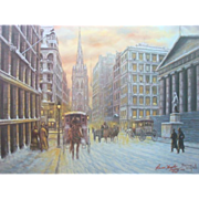 1983 'Wall Street Eighteen Nineties' Renne Hughes 1941-1991 Signed Limited Print 325/500