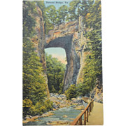 SALE Natural Bridge Virginia Vintage NOS New Old Stock Postcard