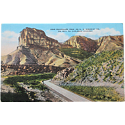 SALE Guadalupe Peak on Way to Carslbad Caverns Vintage NOS New Old Stock Postcard