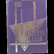 Richland Rams 1983 Texas Yearbook Junior High School