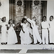 SOLD R.C. Hickman Black History Dallas Texas 1950's Children's Coronation Photograph
