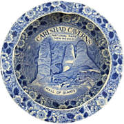 Carlsbad Caverns Hall Of Giants New Mexico Staffordshire Enco National Flow Blue Transfer ...