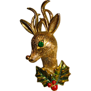 SALE Signed Gerry's Christmas Reindeer Pin