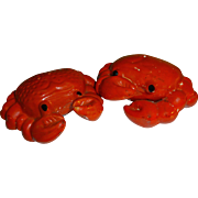 SALE Norcrest Red Crabs Salt and Pepper Shakers