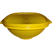 SALE Tupperware Yellow Container with Lid