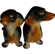 SALE Relco Dachshund Dogs Salt & Pepper Shakers
