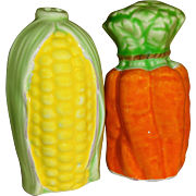 SALE Lefton Corn on the Cob & Orange Carrots Salt and Pepper Shakers