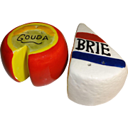 SOLD Miniature Brie and Gouda Cheese Salt and Pepper Shakers