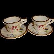 SALE Fenton China Company Mini Teacups and Saucers Set