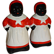 SALE Black Americana Mammy Salt and Pepper Shakers