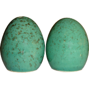 SALE Aqua Speckled Easter Eggs Salt and Pepper Shakers