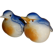 SALE Bone China Blue Birds Salt and Pepper Shakers