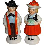 SALE Mini German Couple Salt and Pepper Shakers