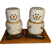 SALE Marshmallow Snowmen S'Mores Salt and Pepper Shakers