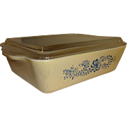 SALE Pyrex Homestead Refrigerator Dish and Glass Lid