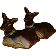 SALE Mini Christmas Deers Salt and Pepper Shakers