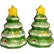 SALE Mini Christmas Tree's Salt and Pepper Shakers