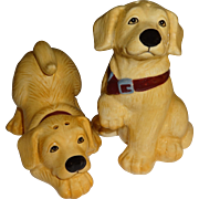 SALE Playful Yellow Labs Salt and Pepper Shakers