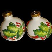 SALE Fitz & Floyd Christmas Bulbs Salt and Pepper Shakers