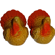 SALE Mini Thanksgiving Turkey Salt and Pepper Shakers