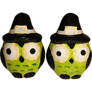 SALE Mini Halloween Owls Salt and Pepper Shakers