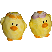 SALE Tiny Easter Chicks Salt and Pepper Shakers